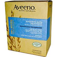 Aveeno, Active Naturals, Для успокаивающей ванной процедуры, без отдушек 8 однопорционных пакетиков ,1.5 унции (42 г) каждый.