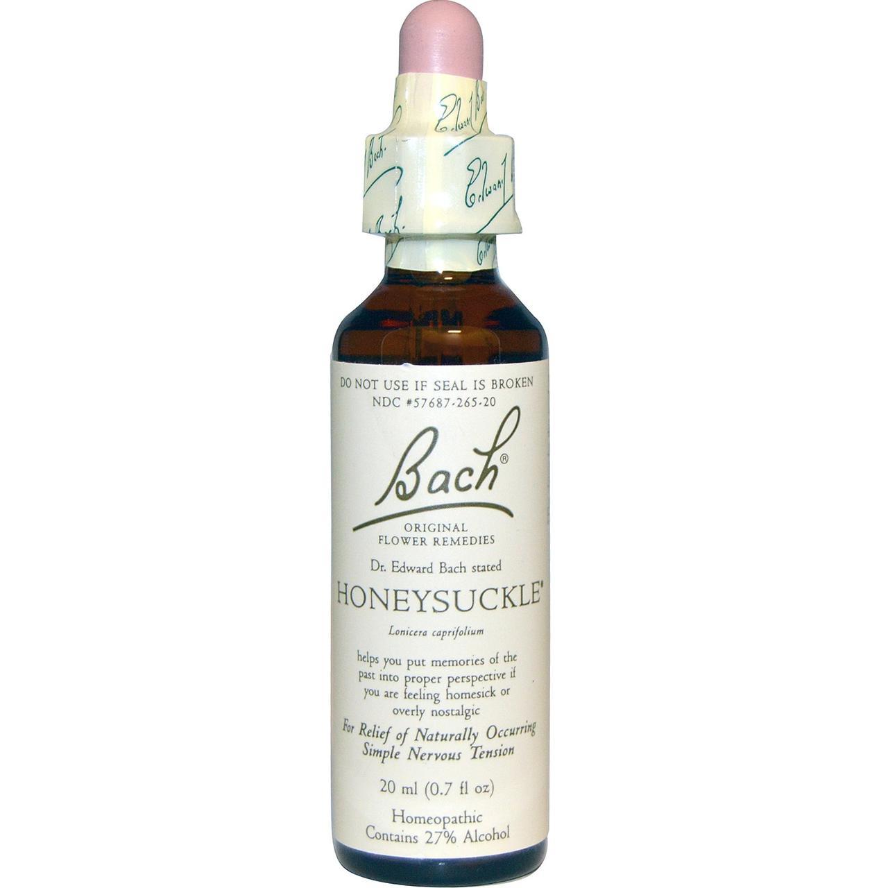Bach, Оригинальные цветочные лекарства, жимолость, 0,7 жидкой унции (20 мл)