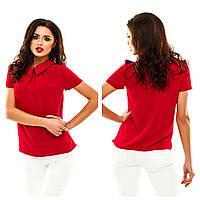 Блуза однотонная с имитацией погон, в 9 расцветках.
