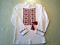 Вышиванка для мальчика (красная вышивка)