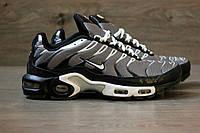 Мужские кроссовки Nike Air Max Tn+ Black Gray. Топ качество! Живое фото (аир макс тн, эир макс тн)