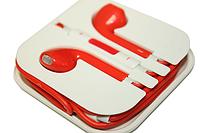 Наушники Apple EarPods с пультом дистанционного управления и микрофоном (цветные) Поштучно Красные