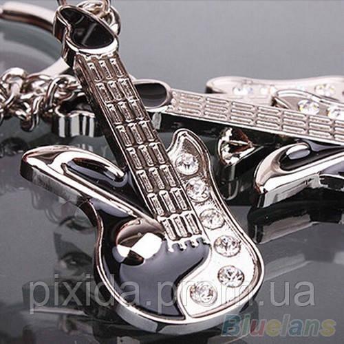 Брелок Гитара кристаллы эмаль