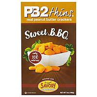 Bell Plantation, PB2 Thins, сладкие хлебцы для барбекю, 7 унций (198 г)