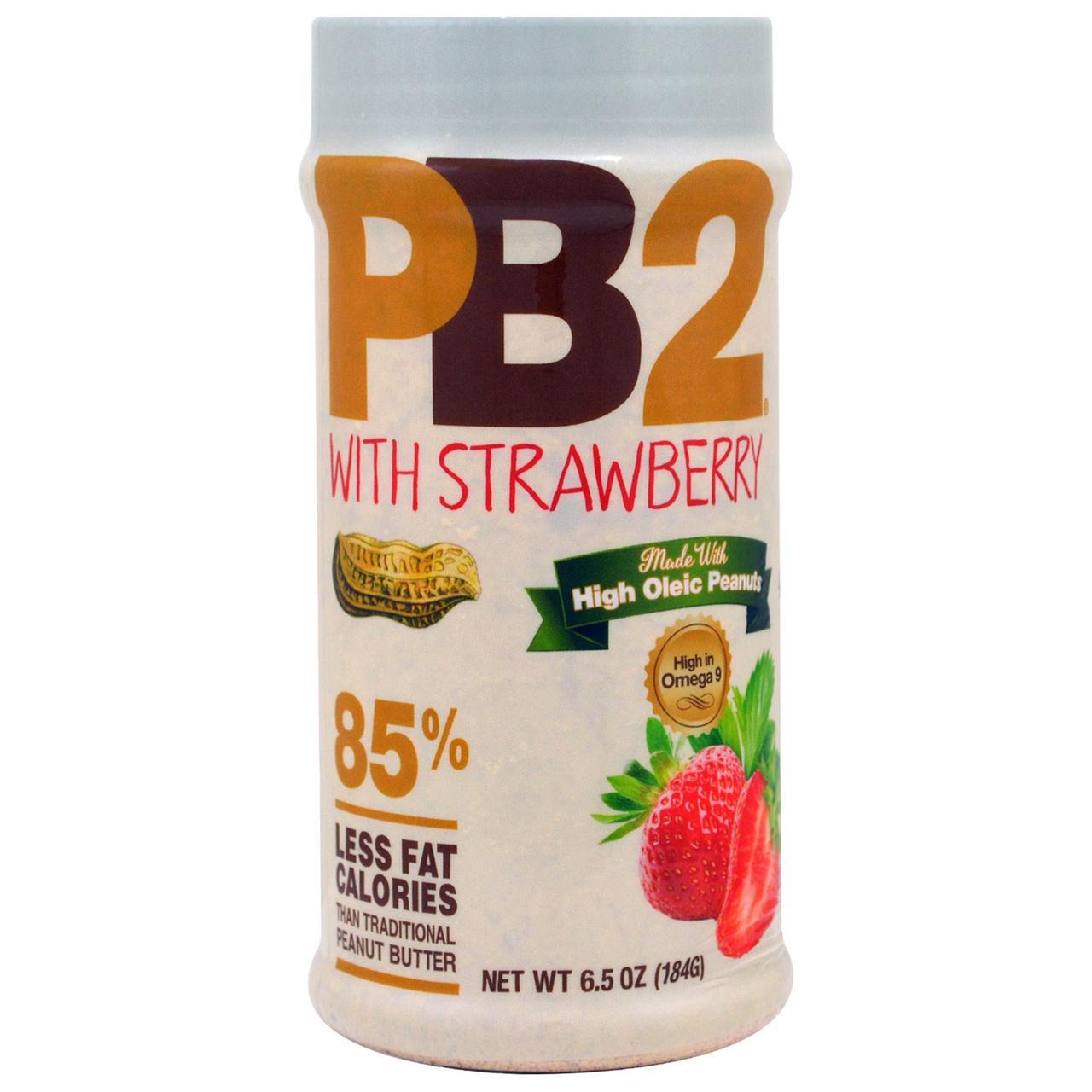 Bell Plantation, PB2, порошковое арахисовое масло с клубникой, 6,5 унции (184 г)