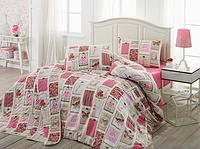 Комплект постельного белья евро Ekol Gülkurusu Ранфорс