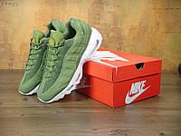 Кроссовки Nike Air Max 95 x Stussy Palm Green. Живое фото. Топ качество(Реплика ААА+), фото 1