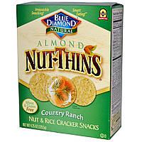Blue Diamond, Миндально-ореховые, крекеры из орехов и риса, Country Ranch, 4,25 унций (120,5 г)