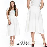 Белая женская юбка миди 250