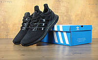 Кроссовки Adidas ultra boost all black. Живое фото. Топ качество! (Реплика ААА+)