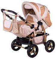 Детская коляска трансформер Young Adamex 620604, бежевый
