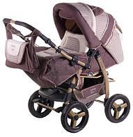 Детская коляска трансформер «Young» 620291 Adamex, коричневый