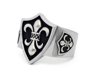 Печатка мужская серебряная Геральдическая Лилия КЦ-54 Б