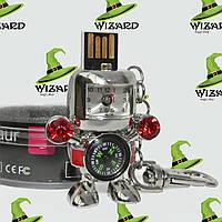 Флешка 8 Gb металл Робот с часами и компасом, фото 1