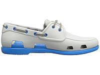 Мужские Crocs Beach Line Boat Shoe Grey Blue