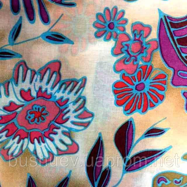 Ткань коттон набивной легкий (Цветочный рисунок)