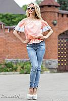 Нежнейшая персиково-белая блуза, фото 1