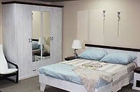 Спальня  Лавенда со шкафом 4Дв. с зеркалами