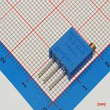 Резистор подстроечный 3296 200 кОм металлокерамика 25 оборотов выводные 0.5 Вт, фото 3