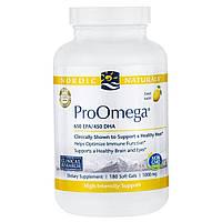 Nordic Naturals Professional, ПроОмега, пищевая добавка с омега-3 с лимонным вкусом, 1000 мг, 180 мягких желатиновых капсул с жидкостью