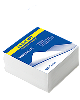 Блок бумаги для заметок Блок белой бумаги для заметок 80х80 500 листов склеенный BM.2204 Buromax (BM.2204 x 26464)
