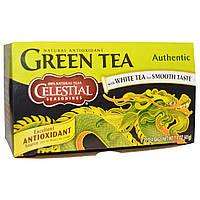 Celestial Seasonings, Зеленый чай, настоящий 20 пакетиков, 1.4 унции (41 г)
