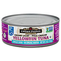 Crown Prince Natural, Желтоперый тунец в родниковой воде, 5 унций (142 г)