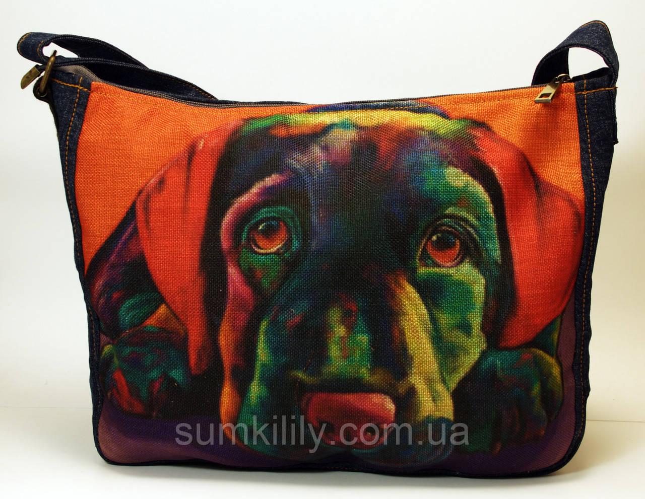 Джинсовая сумочка Лабрадор