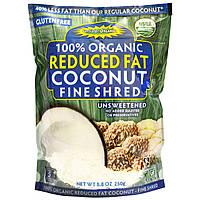 Edward & Sons, 100% органический тонко нарезанный неподслащенный кокос с пониженным содержанием жира, 250 г (8,8 унциий)