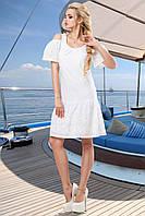 Легкое воздушное платье белого цвета, фото 1