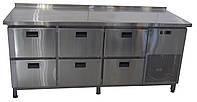 Холодный стол 6 выдвижных ящика из пищевой нержавеющей стали