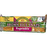 Edward & Sons, Хрустящее печенье из коричневого риса, овощное, 3,5 унции (100 г)