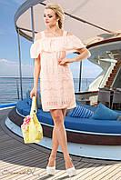 Легкое летнее платье персикового цвета, фото 1