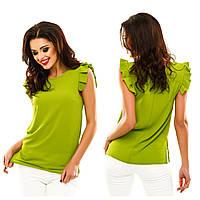 Однотонная блуза с разрезами по бокам, в 10 расцветках.