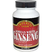 Imperial Elixir, Корейский белый женьшень 100 капсул