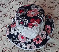 "Шляпа-панама ""Цветы"", р. 52-54, фото 1"