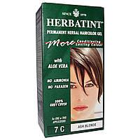 Herbatint, Стойкий растительный гель-краска для волос, 7C, пепельный блонд, 4,56 жидких унции (135 мл)