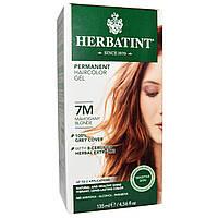 Herbatint, Стойкий гель-краска для волос, 7М, красный блонд, 4,56 жидких унций (135 мл)