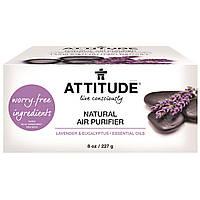 ATTITUDE, Природный очиститель воздуха, с эфирными маслами лаванды/эвкалипта, 8 унций (227 г)