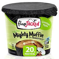 FlapJacked, Mighty Muffin, с пробиотиками, корицей и яблоками, 55 г (1.94 унции)
