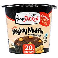 FlapJacked, Mighty Muffin с пробиотиками, со вкусом шоколадного арахисового масла (55 г)