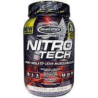 Muscletech, Nitro-Tech, сывороточный изолят + наращивание сухой мышечной массы, со вкусом печенья с кремом, 2,00 фунта (907 г)