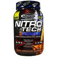 Muscletech, Nitro Tech Power, тройной шоколад, 2 фунта (907 г)