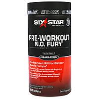 Six Star, Six Star Pro Nutrition, N.O. Fury, элитная серия, 60 таблеток-капсул