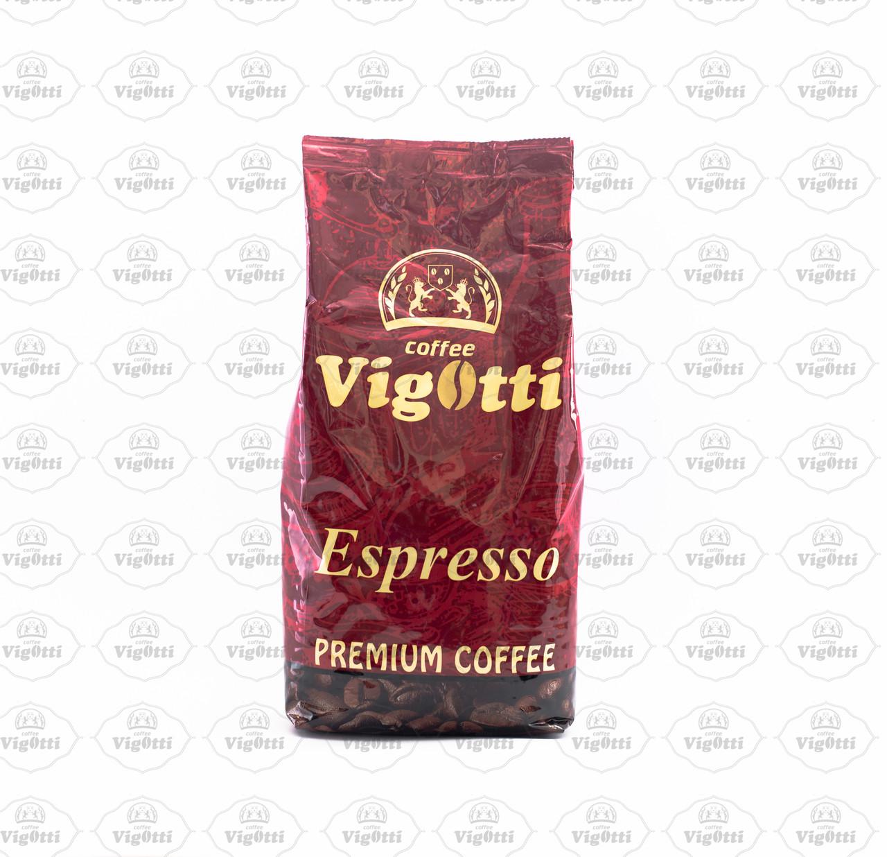 """Кофе """"Vigotti Espresso Coffee"""" (Арабика 20% / Робуста 80%)"""