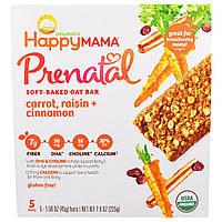 Nurture Inc. (Happy Baby), Happy Mama, Prenatal Soft Baked Oat Bar, Carrot, Raisin, Cinnamon, 5 Bars