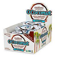 Nutiva, OCoconut, чуть сладкое кокосовое угощение, классическое, 24 кусочка по 0.5 унций (14 г)