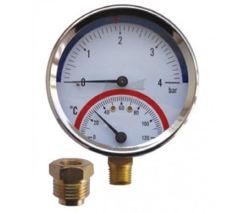 Термоманометр AFRISO ТМ корпус Ø80, от 20 до 120 °C