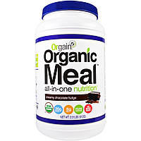 Orgain, Органическая еда, питание все в одном, сливочный шоколадный фадж, 2,01 фунта (912 г)