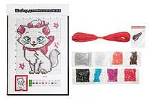 """Набор для вышивания бисером """"Кошка"""" 20.5*27.5 см."""